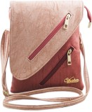Voaka Women Pink, Red PU Sling Bag