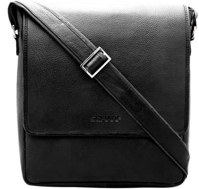 Scharf Men Casual Black Genuine Leather Sling Bag