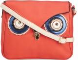 Vero Couture Women Orange PU Sling Bag