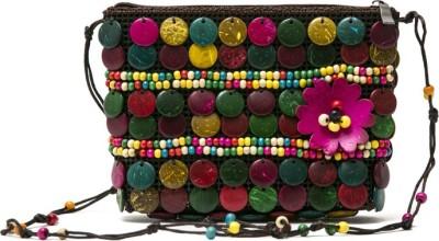 Catss Women Multicolor Beads Sling Bag