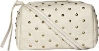 BLUR Women White Leatherette Sling Bag