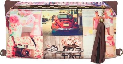 Bandbox Women Casual Pink Canvas Sling Bag