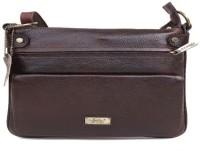 Bessel Women Brown Genuine Leather Sling Bag