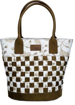 Ocean Homestore Women White Leatherette Hand-held Bag