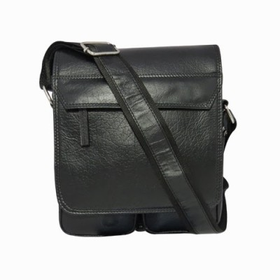 Chimera Leather Men, Women Casual, Formal Black Genuine Leather Sling Bag