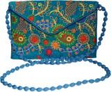 Vedic Deals Women Blue Canvas Sling Bag