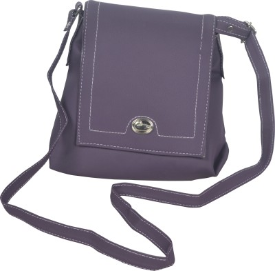 Freddys Men, Women Casual Purple PU Sling Bag