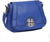 Bagkok Women Blue PU Sling Bag