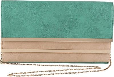 President Bags Women Evening/Party Beige, Green Polyester Sling Bag