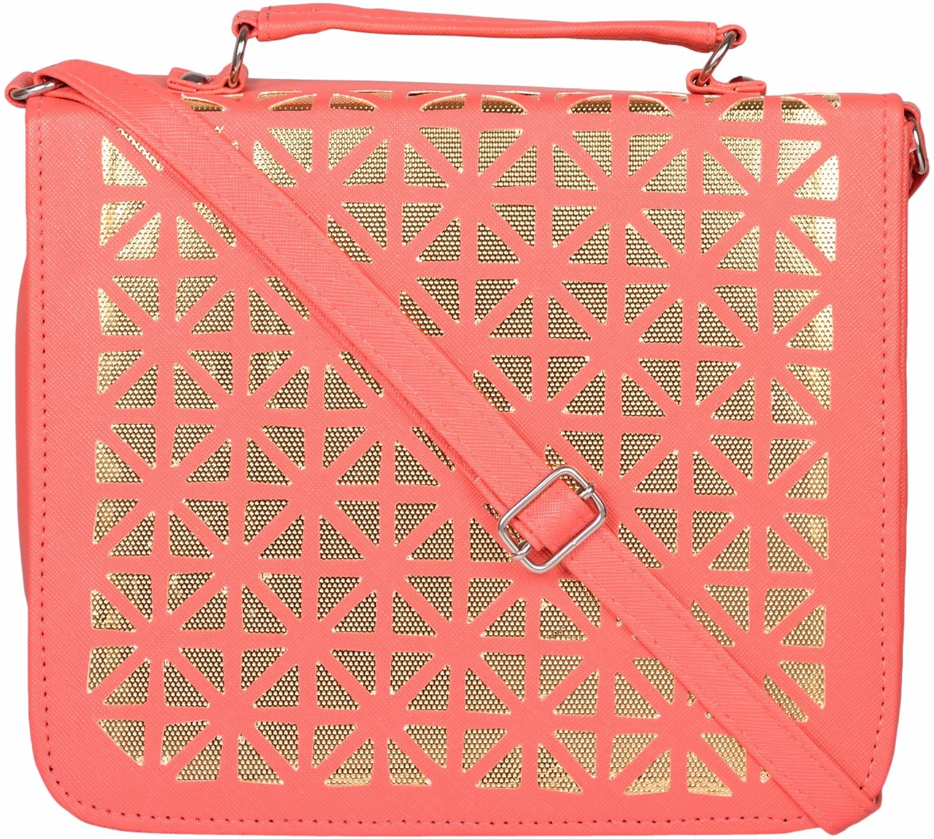 Sling bag below 500 - Cuddle Women Pink Pu Sling Bag