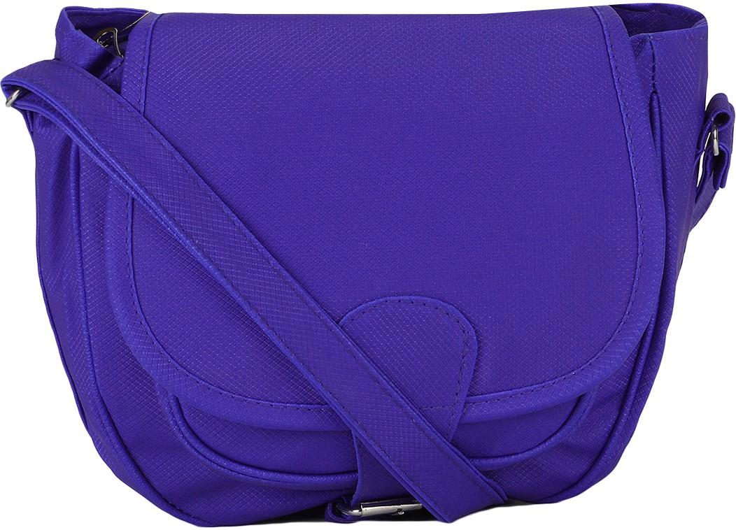 Sling bag below 500 - Incraze Women Blue Pu Sling Bag