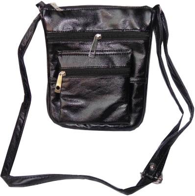 Good Life Stuff Women Formal, Casual Black Leatherette Sling Bag