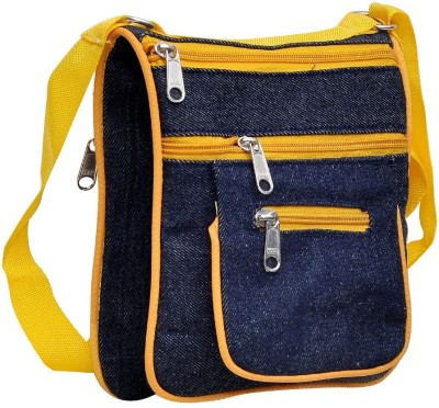 Hawai Men, Women Casual Yellow Canvas Sling Bag