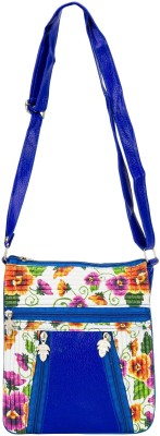 Glitters Girls Casual, Formal Blue Rexine Sling Bag