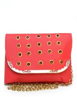 Fashion Knockout Girls, Women Red Leatherette Sling Bag