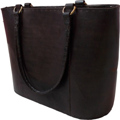 Shiny Collection Girls, Women Tan Genuine Leather Tote
