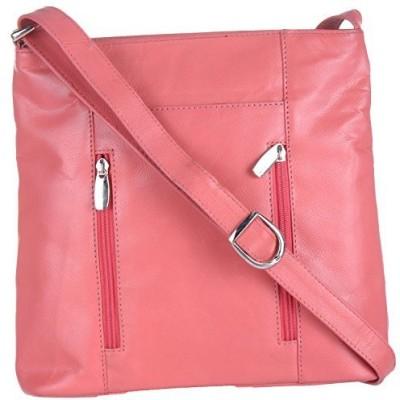 EUPHORIA Girls Pink Genuine Leather, Nylon Sling Bag