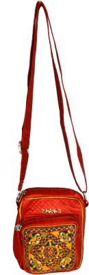 Merci Women Casual Red Linen Sling Bag
