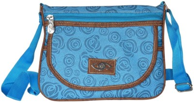 Racial Women Casual Blue Genuine Leather Sling Bag