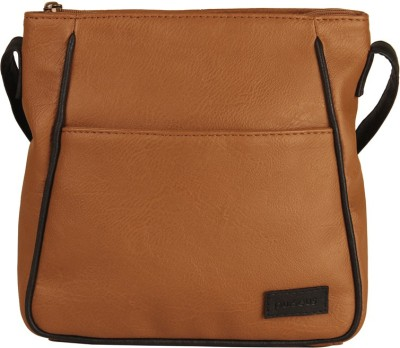 Purseus Women Casual Brown PU Sling Bag