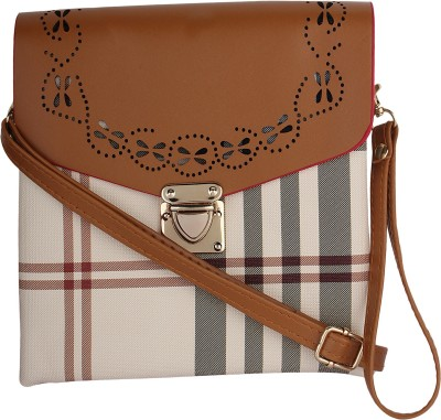 PST Girls, Women Beige, Multicolor PU Sling Bag