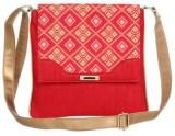 Sunbeams Women Red Silk Sling Bag