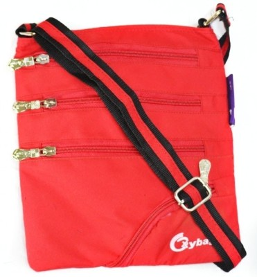 JG Shoppe Women Casual Red Nylon Sling Bag
