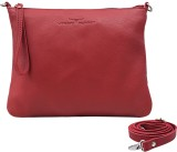 Urban Forest Women Casual Red Genuine Le...