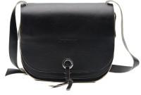 Landmesser Women Black Genuine Leather Sling Bag