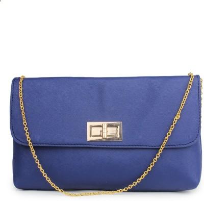 Do Bhai Women Blue PU Sling Bag