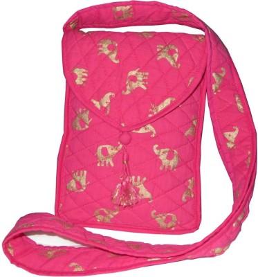 Needlecrest Women, Girls Casual Pink Cotton Sling Bag