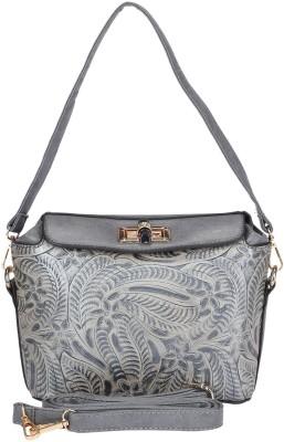 Daks Women Grey PU Sling Bag