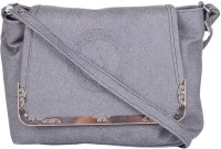 NxtGen Girls Grey Leatherette Sling Bag