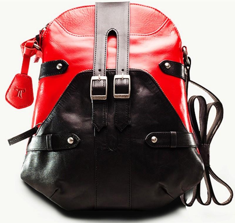 TWACH Women Casual Red, Black Genuine Leather Sling Bag Bohemian