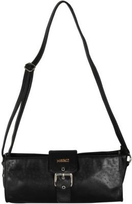 Merci Women Black PU Sling Bag