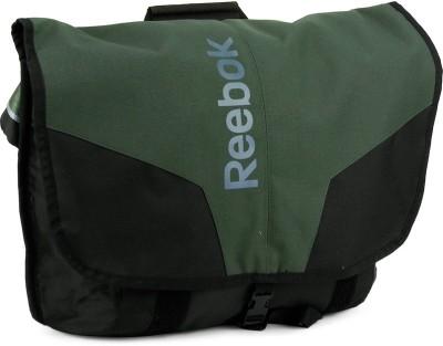 Reebok Men, Women Black, Green Polyester Sling Bag