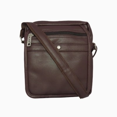 Chimera Leather Men, Women Casual, Formal Brown PU Sling Bag