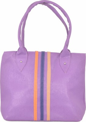 SK-Effects7 Women Purple Leatherette Hand-held Bag