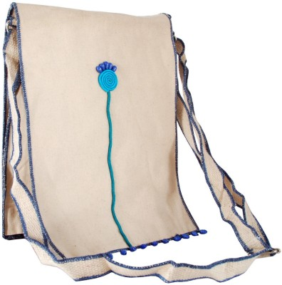 Villcart Women White Canvas Sling Bag