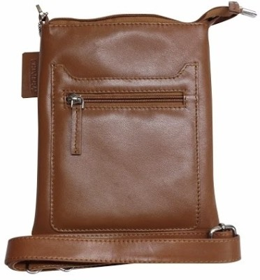 Chimera Leather Women Tan Genuine Leather Sling Bag