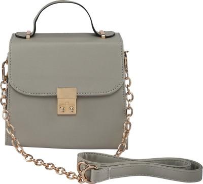 ToniQ Girls, Women Grey Polyester Sling Bag