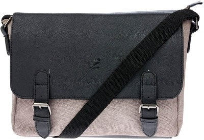iva Men, Women Khaki Leatherette Sling Bag