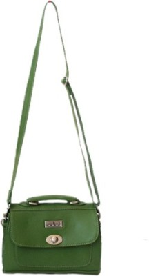 Checkmate Women Casual Green Genuine Leather Sling Bag