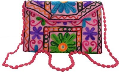 Arisha kreation Co Women Pink Cotton Sling Bag