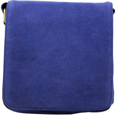 Nappastore Men, Women, Boys, Girls Blue Velvet Sling Bag
