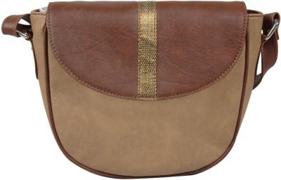 Lapis O Lupo Women Beige PU Sling Bag