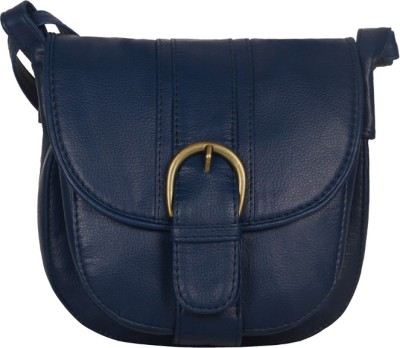 Bagsy Malone Women Casual Blue PU Sling Bag