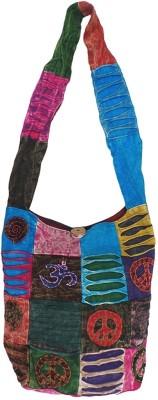Bhamini Women Multicolor Cotton Sling Bag