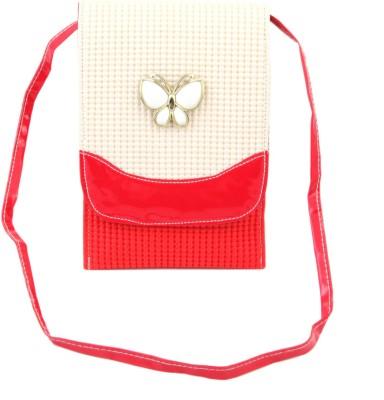 Sanjog Girls, Women Red Canvas Sling Bag