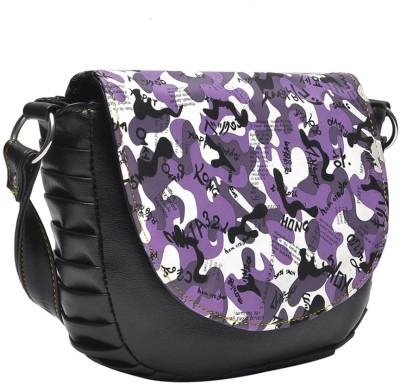 Hawai Women Black PU Sling Bag